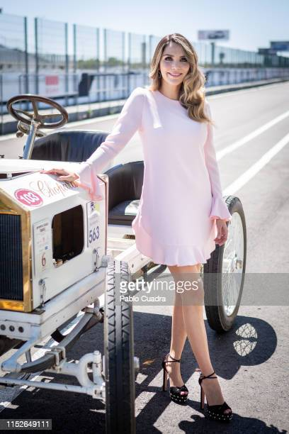 Venezuelan model Rosanna Zanetti attends the 120th Opel anniversary event at Jarama racetrack on May 30 2019 in Madrid Spain
