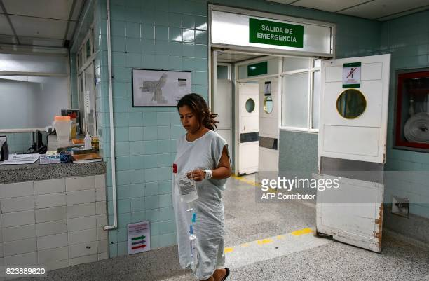 Venezuelan national Dayana Zambrano remains at the Erasmo Meoz University Hospital as she waits for her due date in Cucuta North of Santander...
