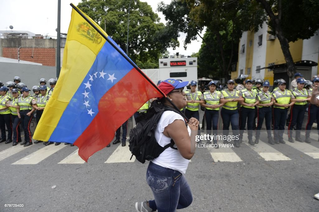 VENEZUELA-CRISIS-OPPOSITION-PROTEST : News Photo