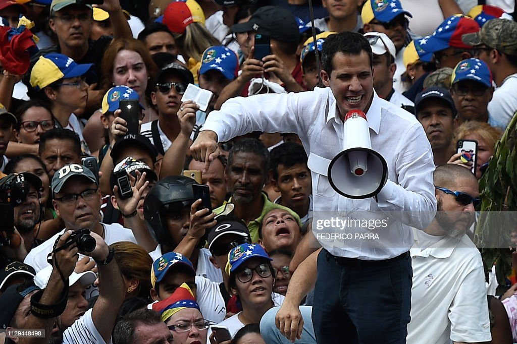 VENEZUELA-CRISIS-OPPOSITION-DEMO-GUAIDO : News Photo