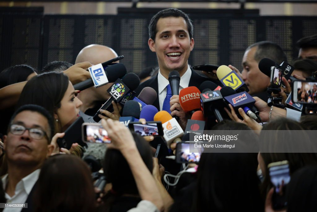 Juan Guaido Press Conference : News Photo