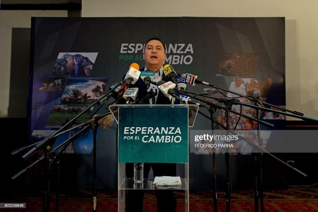 VENEZUELA-POLITICS-OPPOSITION-BERTUCCI : News Photo