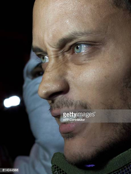 Venezuelan police officer Oscar Perez participates in an antigovernment protest in Caracas on July 13 2017 Perez who attacked the headquarters of the...