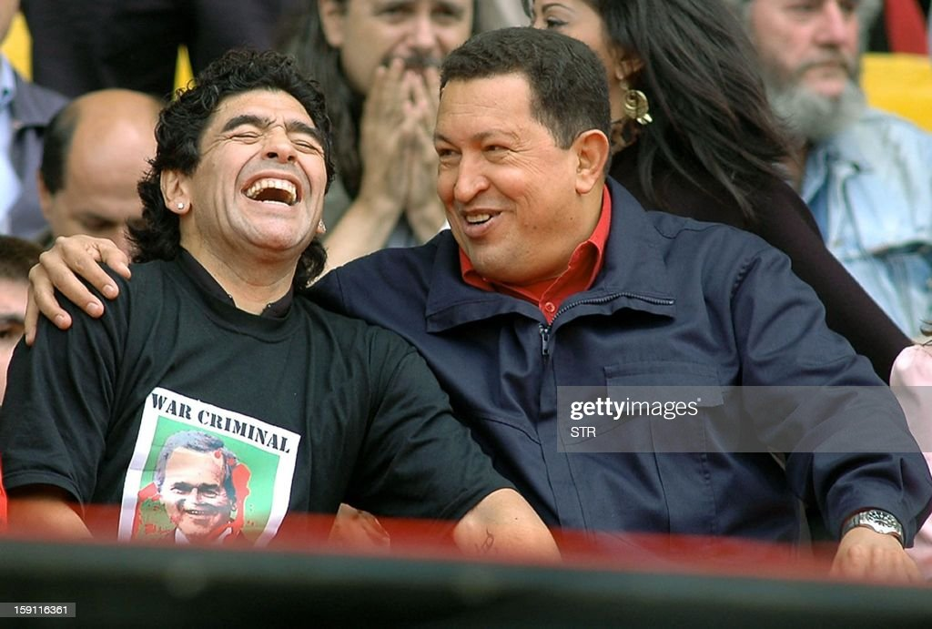 ARG-AM SUMMIT-CHAVEZ-MARADONA : News Photo
