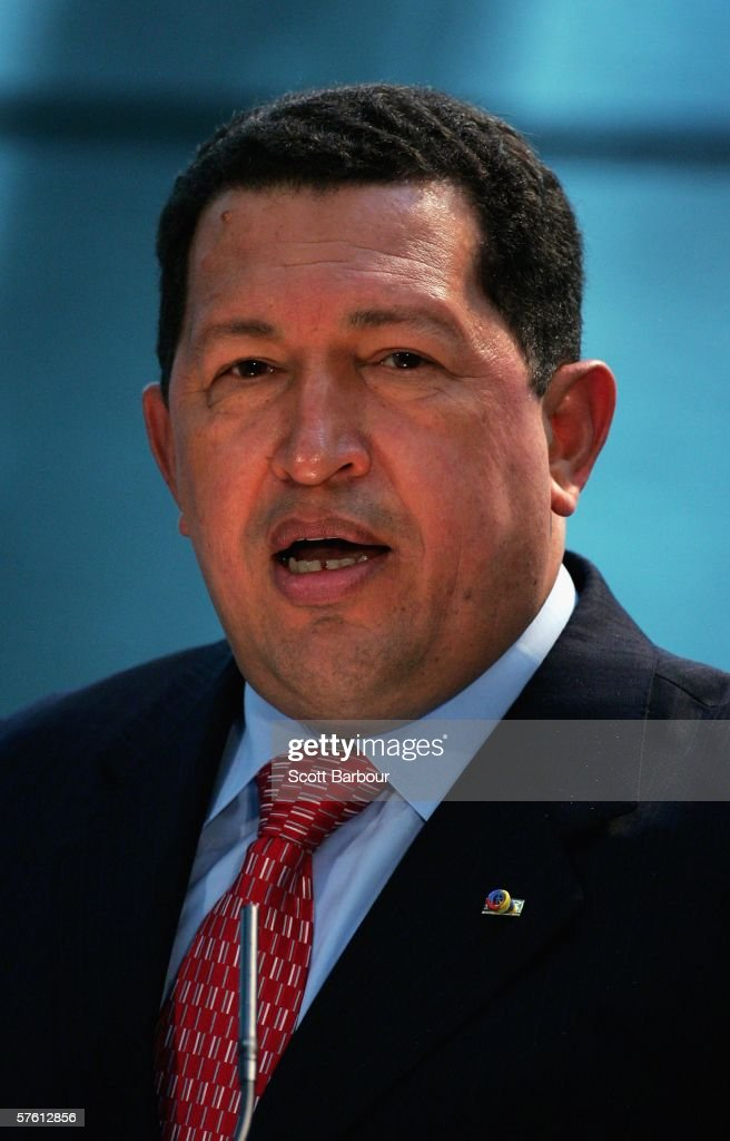 President Chavez Of Venezuela Meets With London Mayor