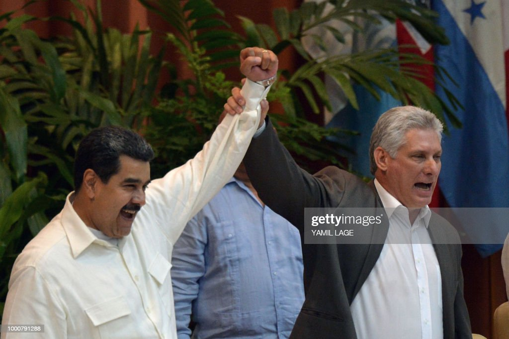CUBA-VENEZUELA-FORUM-SAO PAULO-MADURO-DIAZ CANEL : News Photo