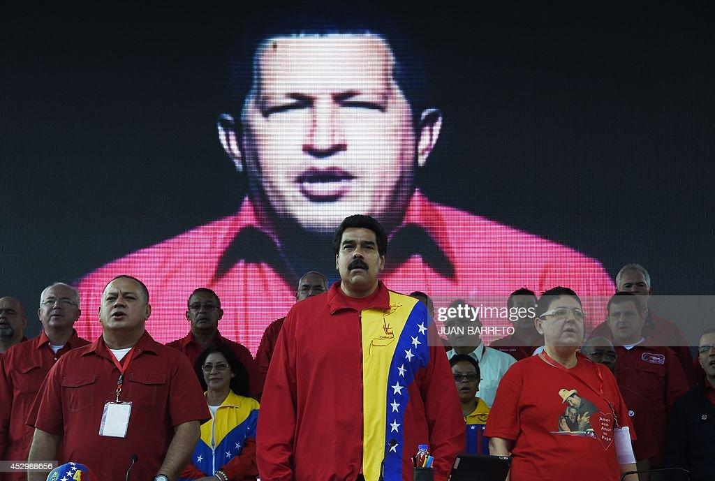 VENEZUELA-POLITICS-PSUV-MADURO : News Photo