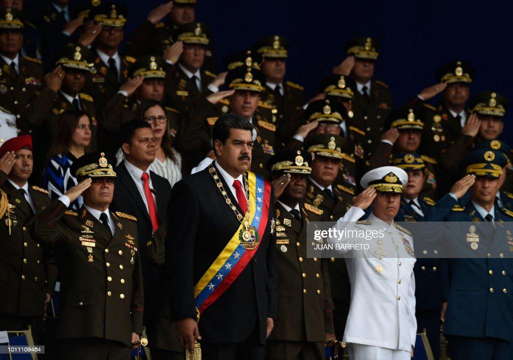 TOPSHOT-VENEZUELA-MILITARY : News Photo