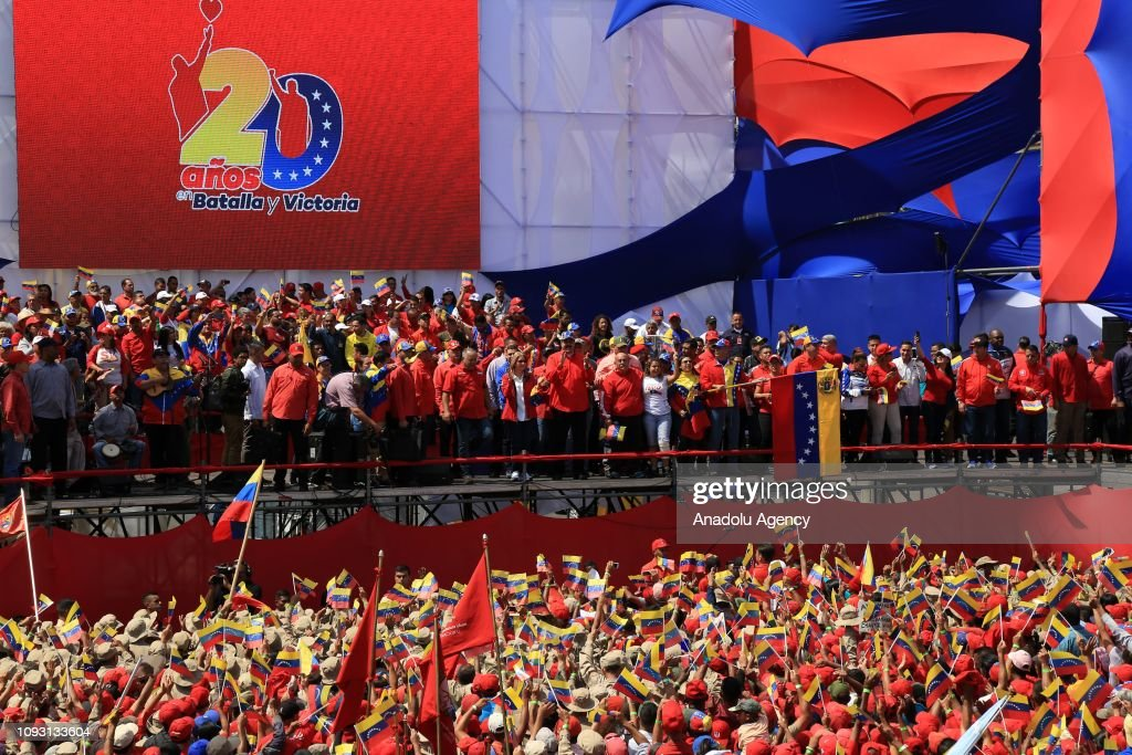 Venezuelan President Nicolas Maduro's supporters' gathering in Caracas : News Photo