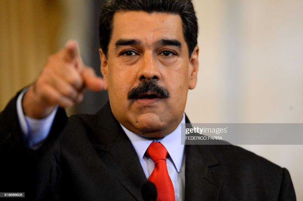 VENEZUELA-POLITICS-MADURO : News Photo