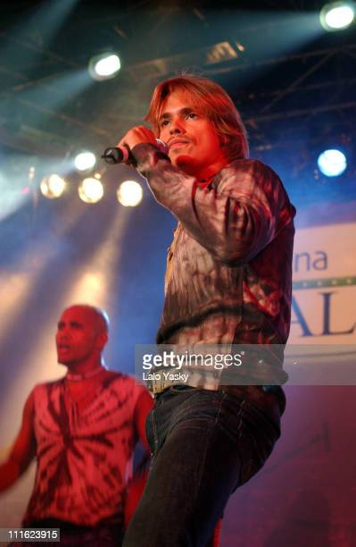 Venezuelan singer Carlos Baute during 'El Latinazo' Featuring Pilar Montenegro in Concert at La Rivera Club in Madrid Spain