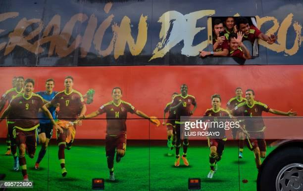 Venezuelan Under20 national team players Nahuel Ferraresi Ronald Hernandez Luis Ruiz and Ronaldo Lucena runnerups at the U20 World Cup in South Korea...