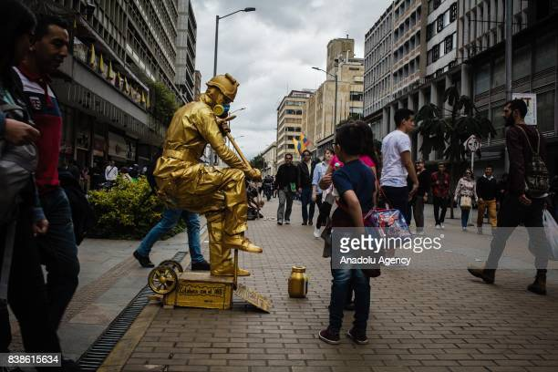 Venezuelan Wladimir Cortez who has arrived in Bogota a month ago after a long trip from Valencia Cucuta Pamplona for new job opportunities as an...