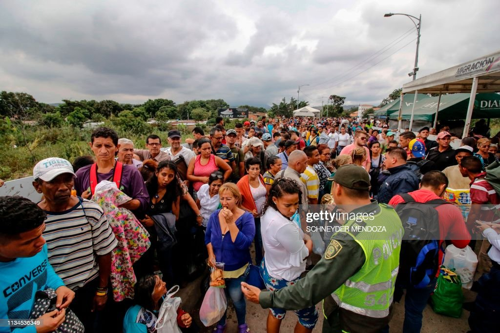 COLOMBIA-VENEZUELA-CRISIS-BORDER : Nachrichtenfoto