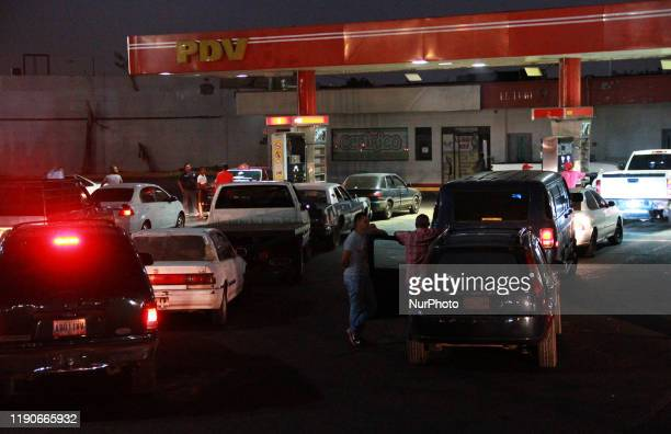 Venezuelans without gasoline due to the collapse of the oil Industry december 27, 2019 in the city of Maracaibo, Venezuela. The yards of the...