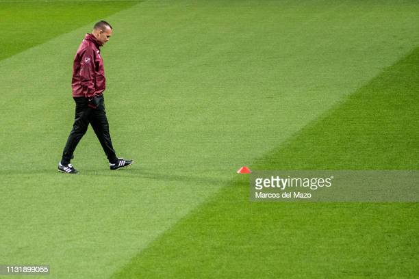 Venezuela's coach Rafael Dudamel during a training session ahead of friendly match against Argentina National Football Team at Wanda Metropolitano...