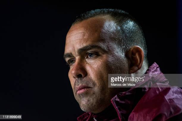 Venezuela's coach Rafael Dudamel holds a press conference ahead of friendly match against Argentina National Football Team, at Wanda Metropolitano...