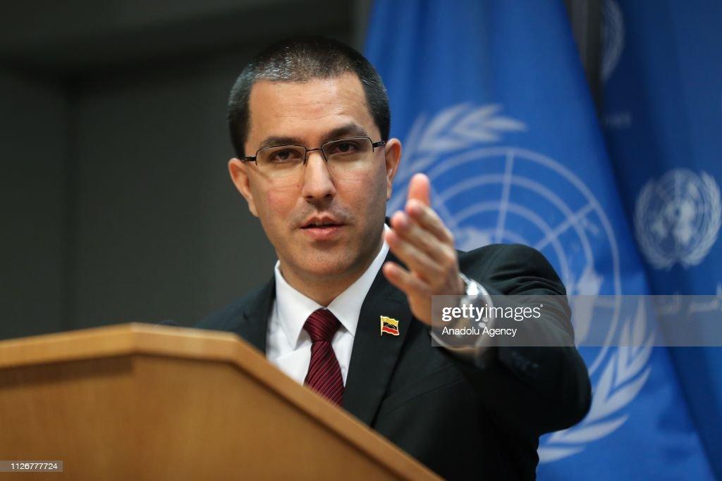 Venezuela's Foreign Minister Jorge Arreaza... : News Photo
