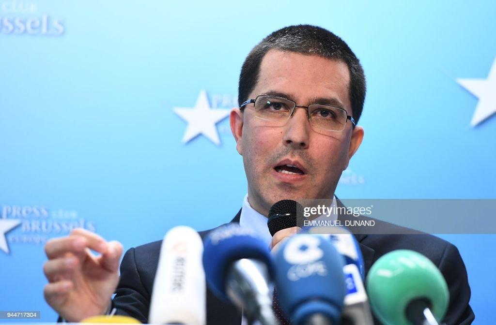 BELGIUM-EU-VENEZUELA-DIPLOMACY : News Photo