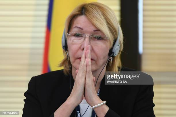 TOPSHOT Venezuela's fugitive former top prosecutor Luisa Ortega one of President Nicolas Maduro's most vocal critics invited by Brazil's prosecutor...