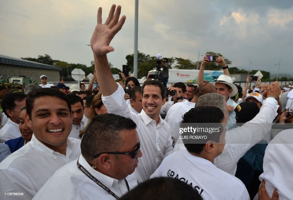 COLOMBIA-VENEZUELA-CRISIS-AID LIVE-CONCERT-GUAIDO : News Photo