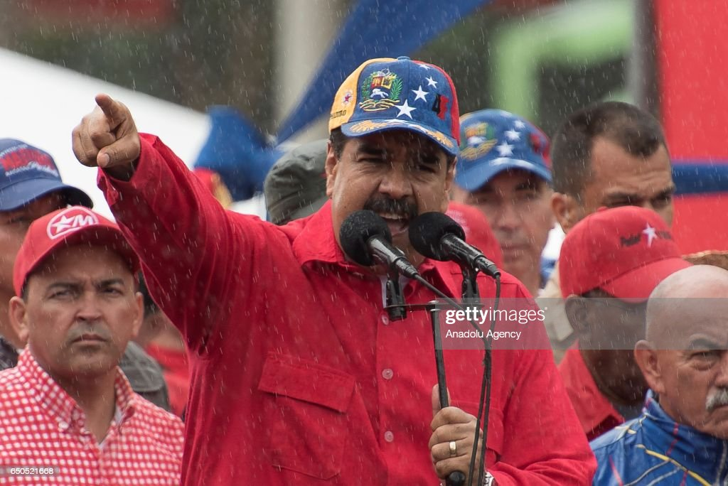 Venezuela's President Nicolas Maduro attends rally : News Photo