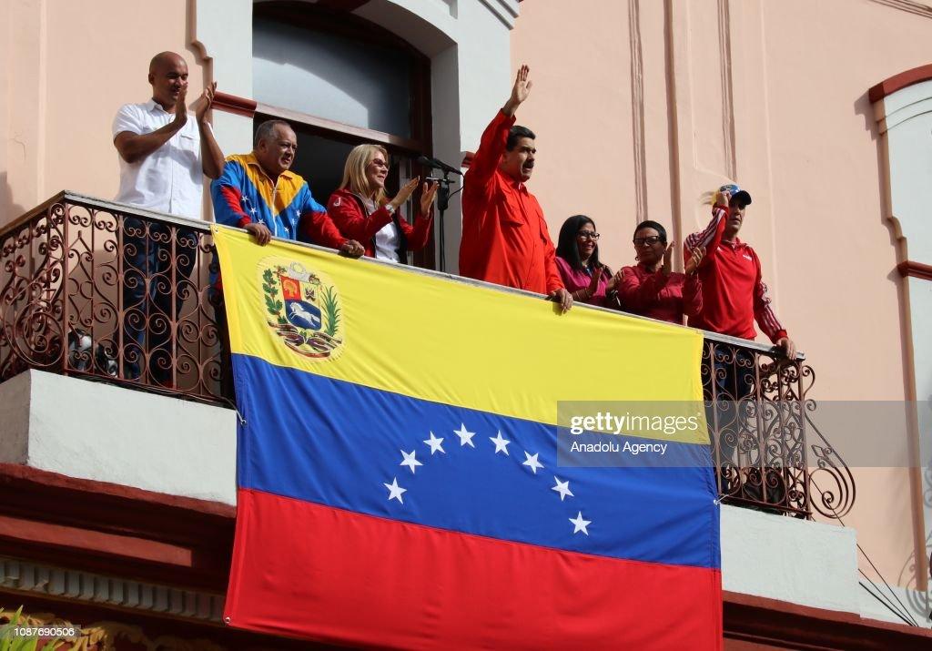Venezuela's President Nicolas Maduro... : News Photo