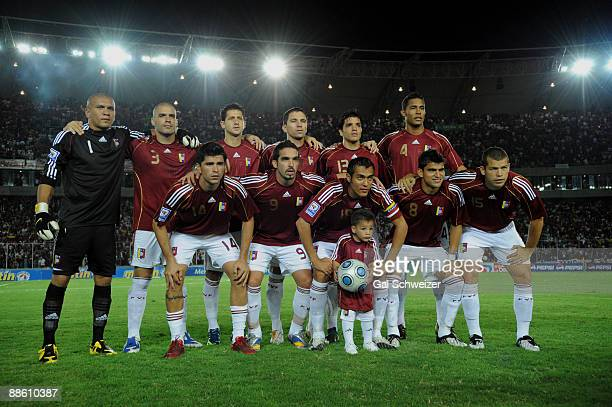 Venezuela´s team poses for a picture before the match against Uruguay during their FIFA World Cup South Africa2010 South American qualifier football...