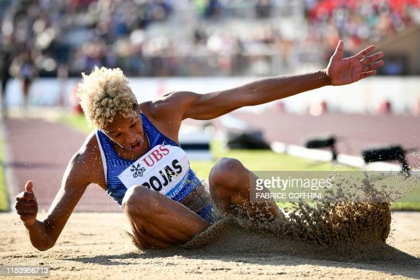 Venezuela's Yulimar Rojas competes in the Women's triple jump during the IAAF Diamond League competition on July 5, 2019 in Lausanne.