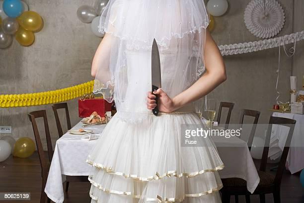 Vengeful Bride With Kitchen Knife