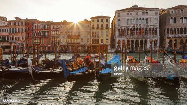 venice and gondolas - gondola traditional boat stock pictures, royalty-free photos & images