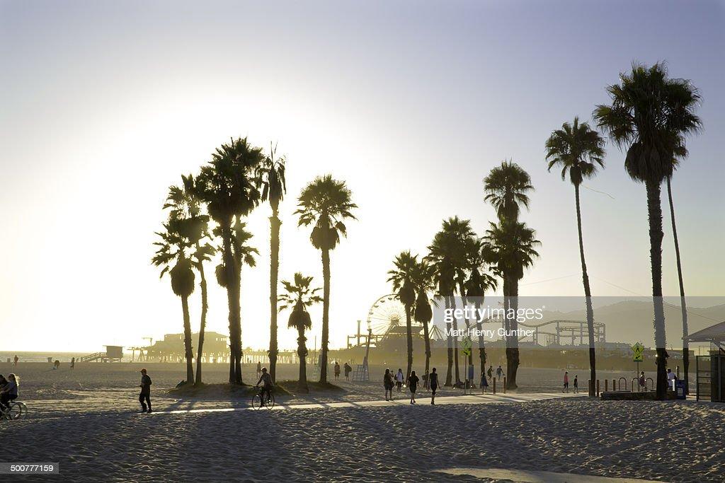 Venice Beach, CA at sunset : Stock Photo