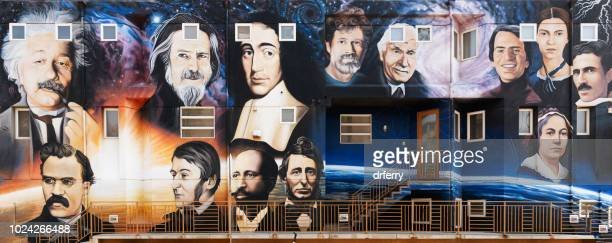 venice beach pantheist wall panorama - philosophy stock pictures, royalty-free photos & images