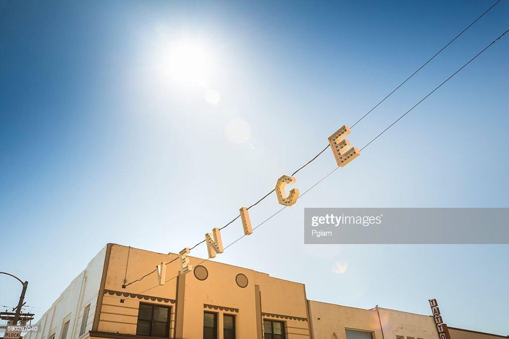Venice Beach sign : Stock Photo