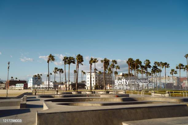 venice beach skatepark - venice beach stock pictures, royalty-free photos & images