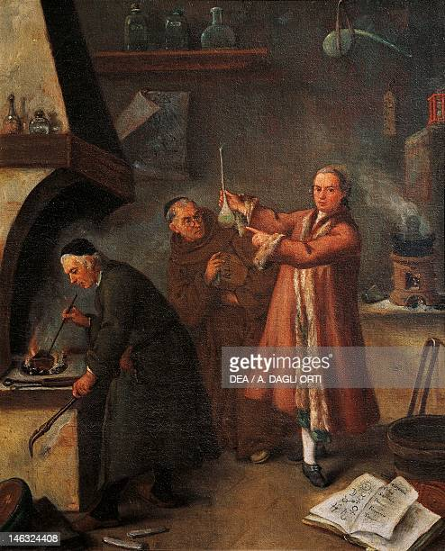 Venice Ca' Rezzonico The alchemists' laboratory by Pietro Longhi