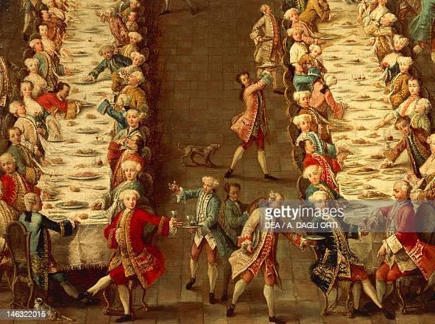 Venice Ca' Rezzonico The Banquet at Casa Nani in Giudecca from the School of Pietro Longhi 18th19th Century