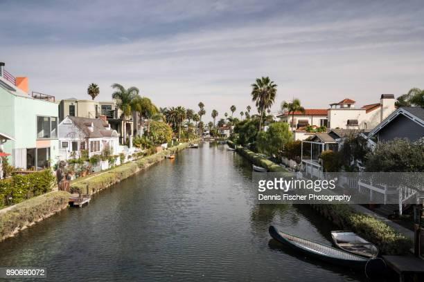 Venice canals in California