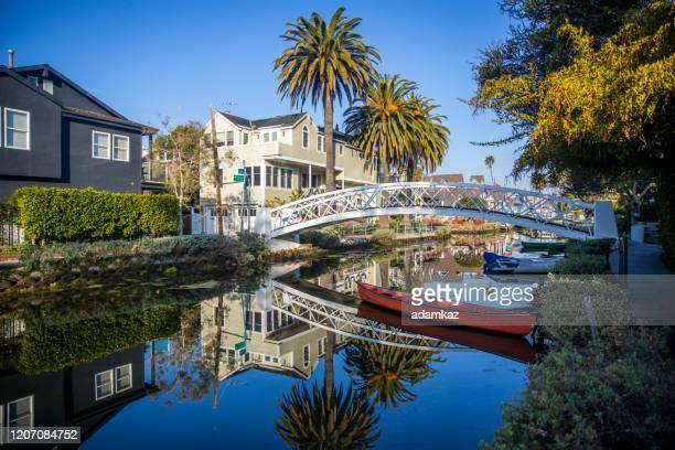 ヴェネツィア運河 - カリフォルニア州 ベニス ストックフォトと画像