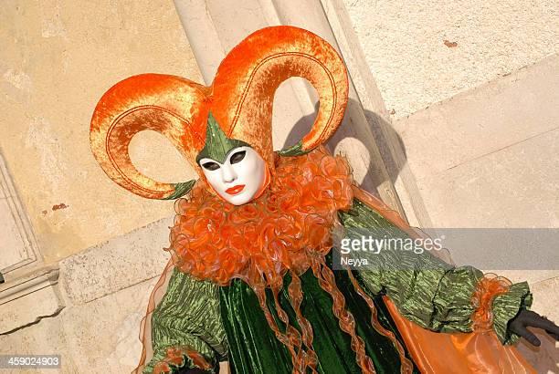 carnevale di venezia 2009 - arlecchino foto e immagini stock