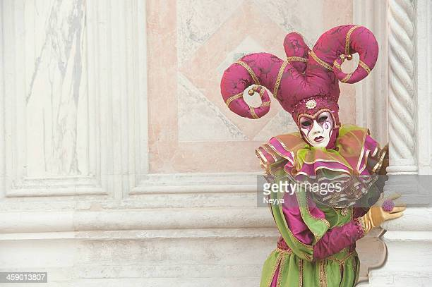 venice carnival 2013 - harlequin stock photos and pictures