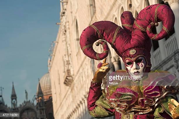 carnaval de veneza 2013 - arlequim - fotografias e filmes do acervo