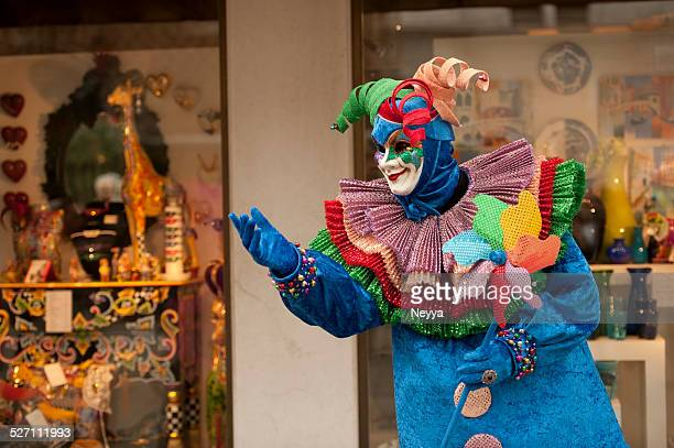 venice carnival 2014 - harlequin stock photos and pictures