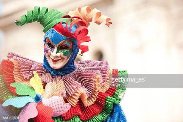 carnaval de veneza 2014 - arlequim - fotografias e filmes do acervo