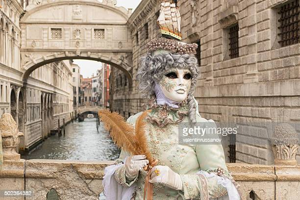 venice carnival at brodge of sighs - evening ball stock pictures, royalty-free photos & images