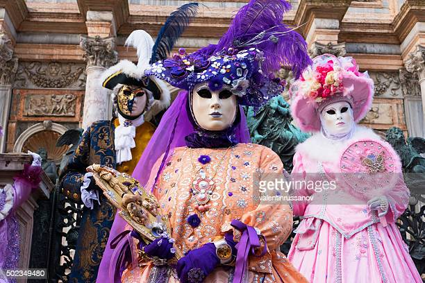 Venice Carnival in purple and pink