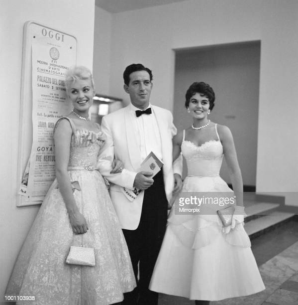 Venice Film Festival 1955, British actors Belinda Lee, John Gregson and Eunice Gayson attend a party for The Kentuckian, Sunday 4th September 1955.