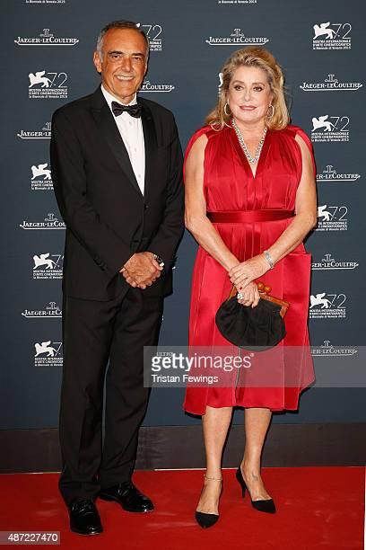 Venice Film Festival Director Alberto Barbera and actress Catherine Deneuve attend the JaegerLeCoultre gala event celebrating 10 years of partnership...