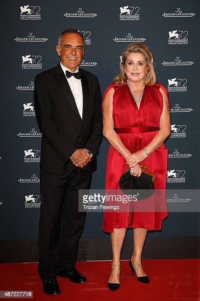 Venice Film Festival Director Alberto Barbera and actress Catherine Deneuve attend the JaegerLeCoultre gala event celebrating 10 years of partnership...