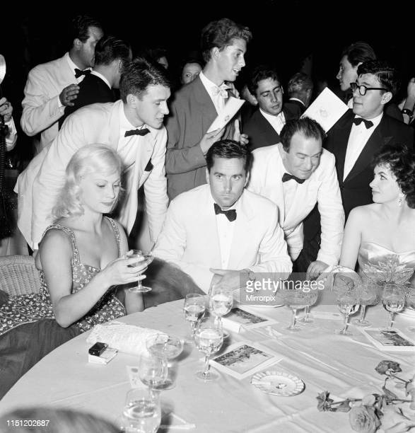Venice Film Festival Friday 31st August 1956 pictured is French actress Helene Remy Italian actress Gina Lollobrigida right also Milko Skofic husband...
